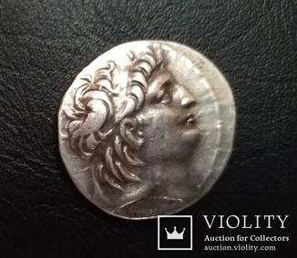 Срібна, тетрадрахма. Антіох VII Евергет (Сидет)