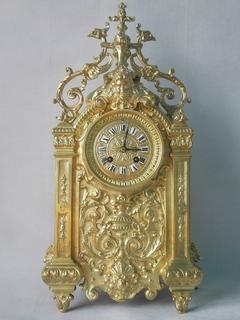 Большие 47,5 см бронзовые часы XIX века