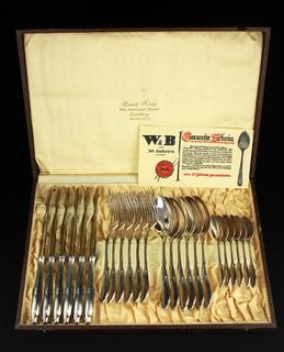 Cтоловый набор W&B. 24 предмета. Серебрение. Германия