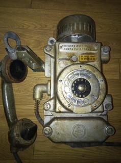 Телефон настенный времен СССР