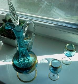 Венецианское стекло. Набор для ликера.