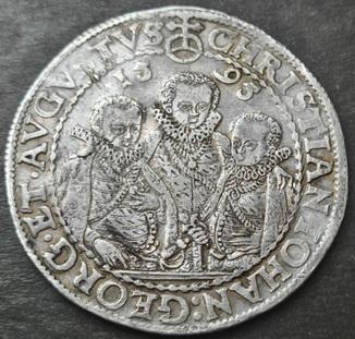1 талер 1595 год , Три брата. Германия, Саксония