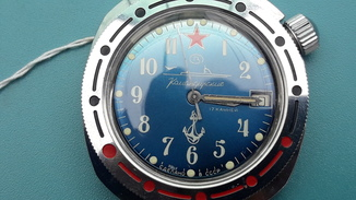 Часы Командирские (подлодка) новые с документом и коробочкой