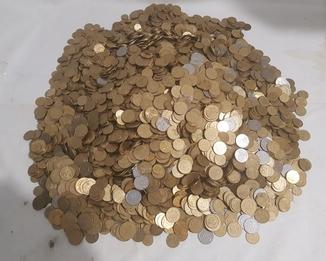 25 кілограм мелочі україни від 5 копійок до 1грн.
