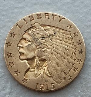 2,5 $ 1915 год США золото 4,16 грамм 900'