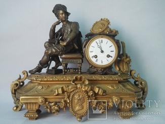 Каминные часы XIX века Vincenti & Cie 1855