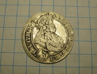 3 крейцера 1698 Леопольд