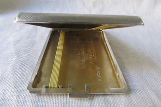 Портсигар серебряный с дарственной надписью