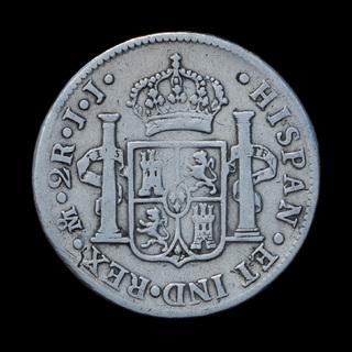 2 Реала 1816 Фердинанд VII, Испания