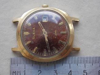 Часы Слава позолоченные СССР