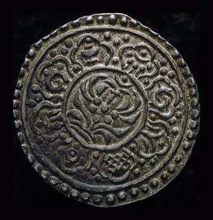 Тибет тангка 1882 Unc серебро