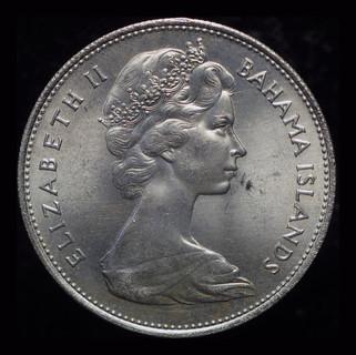 Багамские острова доллар 1966 Unc серебро из набора