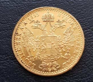 1 дукат 1915 року Австрія, 3,49 грам 986`