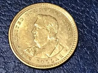 1 доллар сша 1905 Levis and СLark . Золото