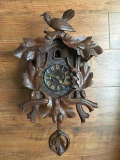 Часы с кукушкой JUNGHANS, Германия 1890-1900 г