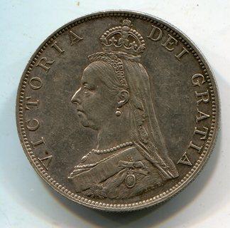 Великобритания двойной флорин 1887