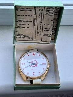 Часы Ракета большая (коробка,паспор позолота Au