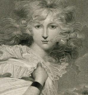 Гравюра. 31х25см. Женский портрет
