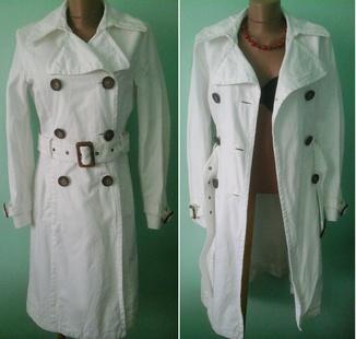 Джинсовое белое пальто, Т42, р.M-L