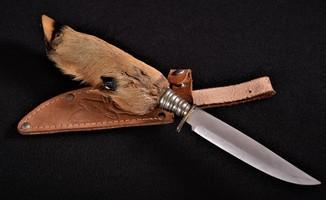 Охотничий нож в кожаном чехле Solingen Германия