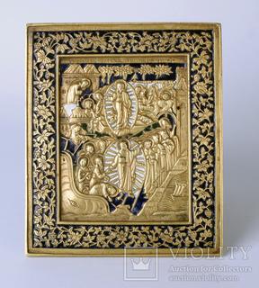 Икона Воскресение Христово и Сошествие во Ад. позолота,без резерва.