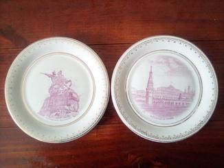 Две настенные тарелки. Коростень
