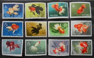 1960 г. Китай. Золотые рыбки (**) MNH