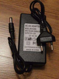 Блок питания 12v 2 aмпера Штекер 5.5х2.5 для T2 і SAT тюнерів