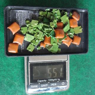 КМ зеленые и рыжие. 55,1 гр.