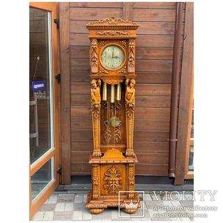 Часы напольные в стиле Барокко. Франция. Механизм  Romanet Morbier
