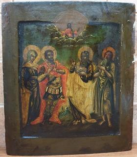 """Икона """"Избранные Святые"""" 18 век"""