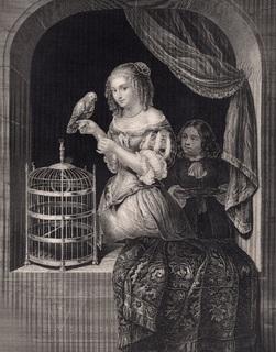 Старинная гравюра. 185. годa. Марцелина. Пейн. (23,5х17см.).
