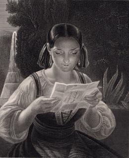 Старинная гравюра. 185. годa. Кадинела. Пейн. (23,5х17см.).
