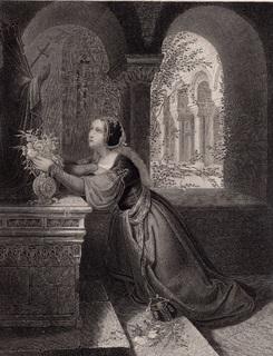 Старинная гравюра. 185. годa. Подношение цветов. Пейн. (23,5х17см.).