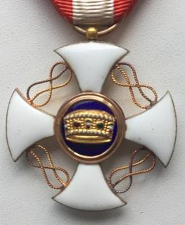 Орден Короны Италии 5-й степени.