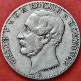Талер 1866 год B, Ганновер