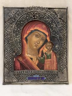 Казанская Божья Матерь(серебро,эмаль)