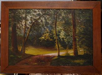 Картина пейзаж «Лесная дорога» с автографом автора.