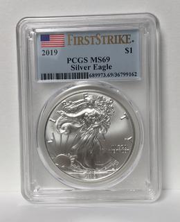 1 доллар США 2019 г. Слаб PCGS MS69