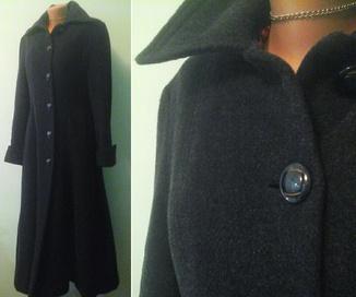 Длинное стеганое пальто, р.M-L, на синтепоне