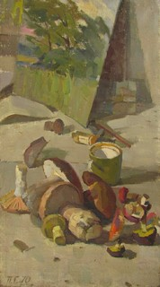 "П,Глоба ""Натюрморт с грибами"" 1970г."
