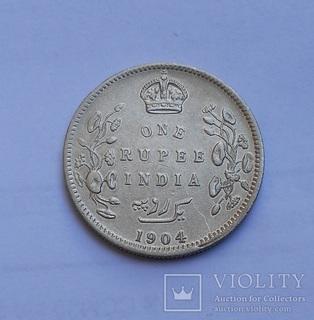 Британская Индия 1 Рупия 1904 Эдвард VII