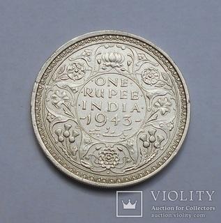 Британская Индия 1 Рупия 1943
