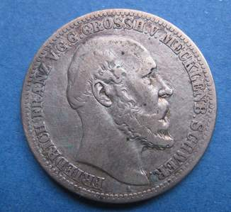 2 марки 1876 меклинбург шверин
