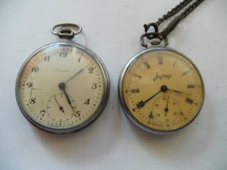 Часы  молния двое штук на реставрацию