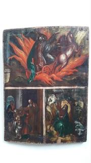 Икона. Триптих. Пророк Елесей.