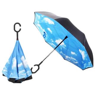 Зонт наоборот, раскладной с облаками Umbrella U2
