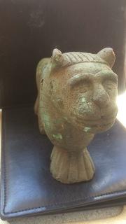 Бронзовый лев-скульптура 4.3 кг