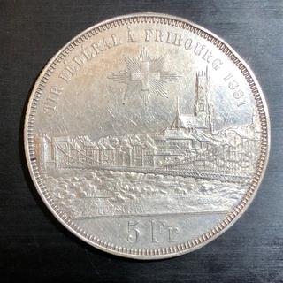 Швейцарія, 5 франків, 1881 р.