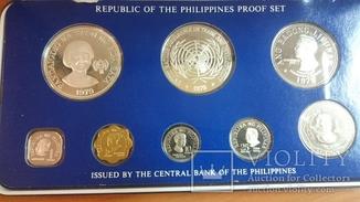 Набор Филиппины 1979 г. Серебро, сертификаты